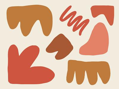 Organic Patterns organic shapes minimalistic marketing illustrator color branding design
