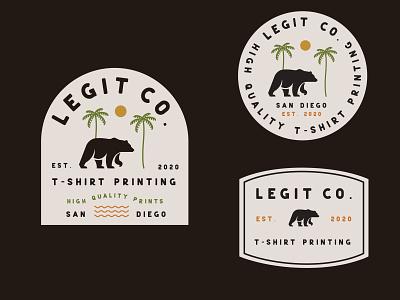 Legit Co. T-Shirt printing logo typography minimalistic marketing illustrator color branding design
