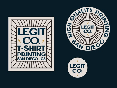 Legit Co. t-shirt printing logo marketing illustrator color branding design