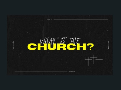 what is the church? typography minimalistic marketing illustrator color branding design