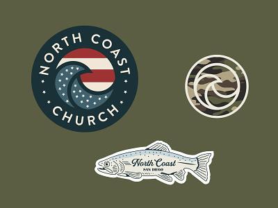 Stickers fish camo flag summer stickers illustration illustrator color branding design