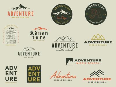 Adventure Logo branding and identity branding design branding concept logodesign middle school adventure logos badge design minimalistic church rebrand vector illustrator marketing typography branding design logo design logotype logo
