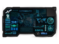 Command Center Screen in tablet HUD