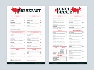 Groovy Beast Menu Design identity branding design restuarant meat menu design menu typography branding logo design