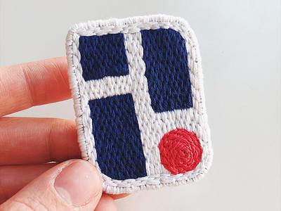 Handmade Passport Logo threads sewing passport logo embroidered embroidery handmade patches patch