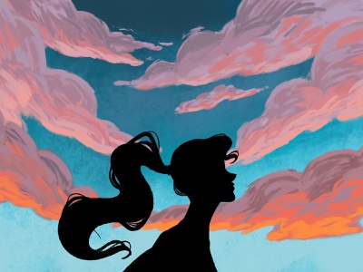 Silhouette at Sunset digital painting silhouette procreate sunset digital painting drawing illustration