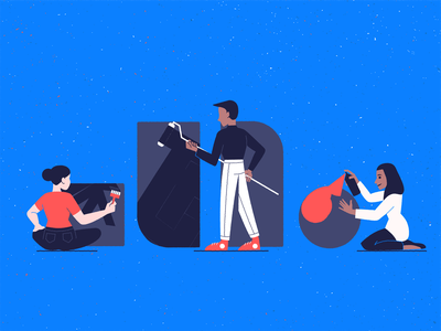 Building Blocks Part 0.5 teamwork logo conceptual branding vector drawing design illustration