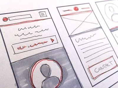Simple iPhone 5s Concept Templates concept design sketch draw ui interface elements workflow
