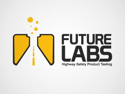 Future Labs Concept science beaker lab logo