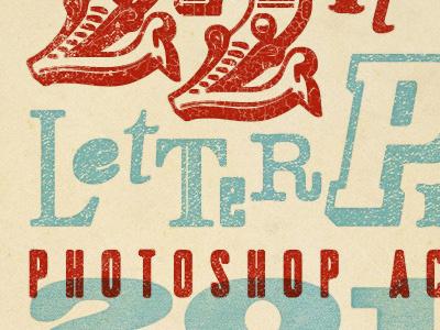 22 Letterpress Photoshop Actions photoshop actions letterpress vintage