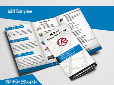 Mbit Enterprises Brochure design/trifiold