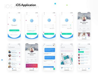 Network iOs Application in Light-Theme