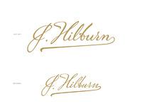 Jhilburn script logo attach