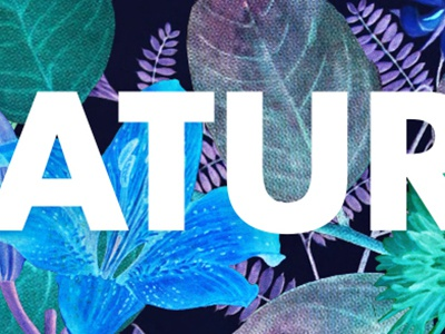 Natura typography type art collage