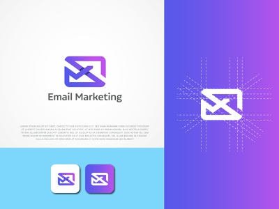 Email marketing logo design concept logo design branding graphic design modern logo monogram logo branding design icon logos logo design branding logo marketing logo