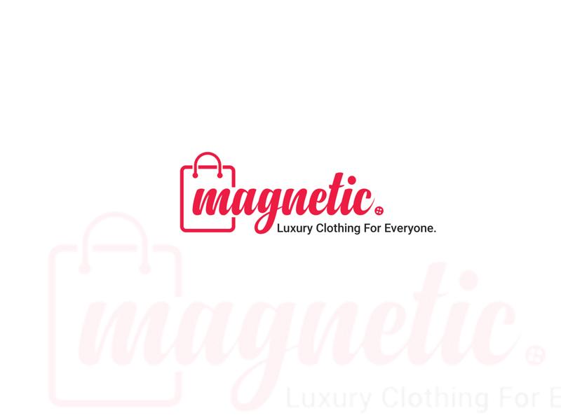 Magnetic E-commerce logo illustrator psd design graphic color pink shopping magnetic logo ecommerce
