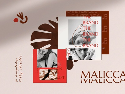 Malicca - Instagram Template typography design trending simple professional modern posts instagram post template instagram stories template instagram stories pack instagram stories instagram post instagram banner fashion instagram elegant business card design branding blogger blog