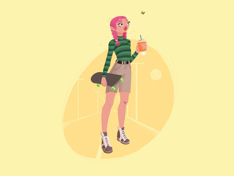 Sk8tr character design procreate drawing dribbbble style vector character charachter design color illustrator illustration
