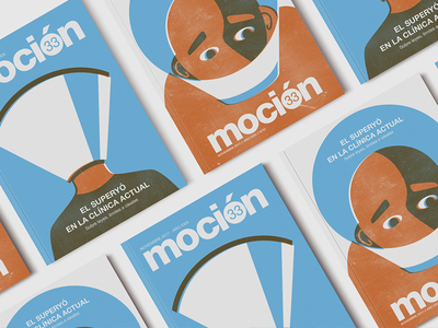 Moción Magazine Illustrations two colors super-ego illustration editorial magazine