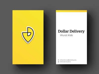 """""""Dollar Delivery"""" Business Card Mockup kickstarter startup mockup design mockup business card design business card icon graphic  design branding typography vector illustration location pin design logo food delivery delivery service"""