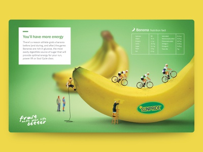 Sunpride - Banana Nutrition Fact art direction photoshop digital imaging typography design illustration branding