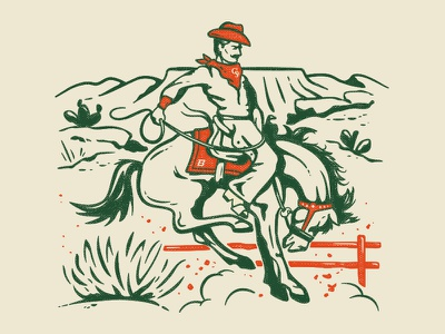 Stadium Sessions – CSU v. Boise St. Poster illustration ranch desert western cowboy vintage broncos aggies poster music colorado