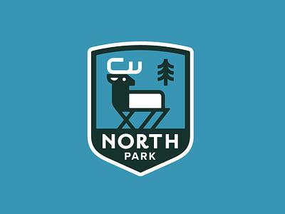 North Park Badge summer blue apparel outdoors nature colorado park north badge pine elk