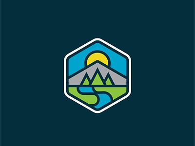 No Laporte Gravel badge logo gravel protection outdoors nature environmental river sun pine mountains