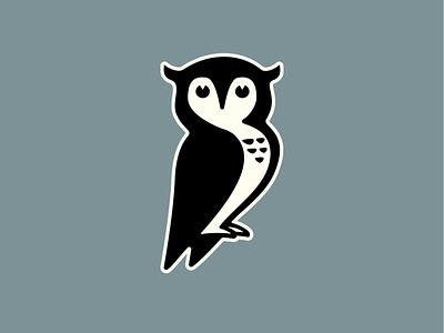 Owl Illustration education collegiate logo bird blue illustration wisdom owl
