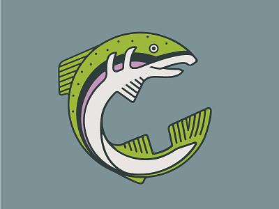 Rainbow Trout Illustration & Shirt flyfishing fishing minimalism river rainbow sage apparel illustration fish trout