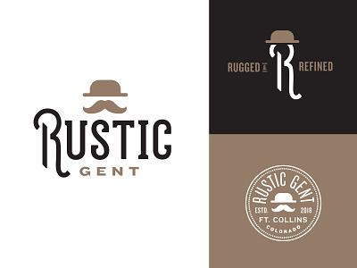 Rustic Gent Identity – WIP branding clothing derby vintage mustache r identity logo gentleman rustic