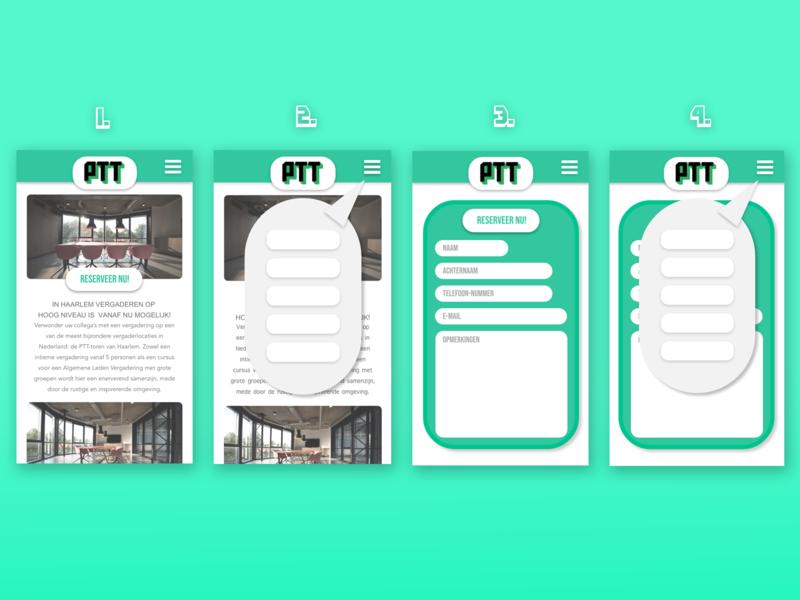 Ontwerp app PTT app ux ui design