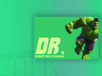 Businesscard for The Hulk