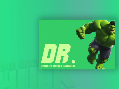 Businesscard for The Hulk photoshop graphicdesign graphic fonts green colors gradient hulk contest design