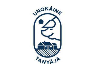 Unokáink Tanyája logo animal branding hungarian pig logo illustration vector logodesign icon farm