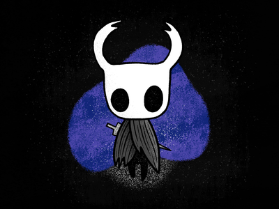 Hollow Knight purple blue drawing hollow knight black dark procreate color apple pencil ipad pro texture illustration video game video games