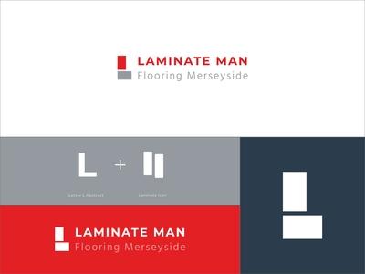 Laminate Man Flooring Logo Concept