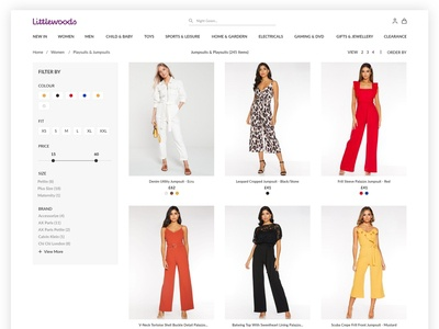 Quick Website Redesign Challenge - Littlewoods