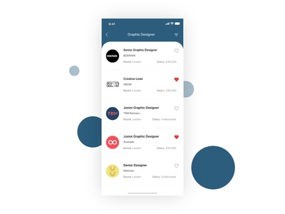 Jobs listings - Mobile App