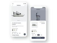 E-commerce add to cart mobile app