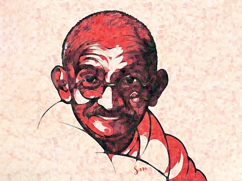 Mahatma Gandhi (Crayons Sketch) illustration poster design poster innovation creativity creative independenceday color art artist artwork sketch crayons
