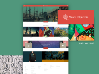 Musee D' Quentin- Website Landing Page