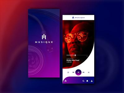 MUSIQUE- music app concept interfacedesign appdevelopment app uidesig error graphicdesign android adobexd uidesign ux ui