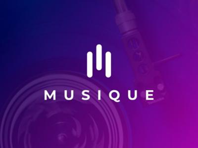 Musique logo concept