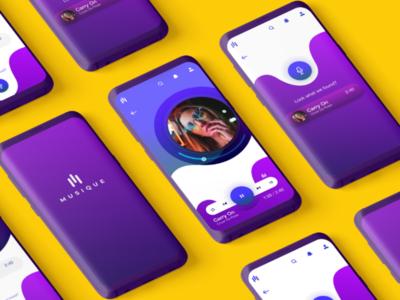 Musique: Music streaming app concept