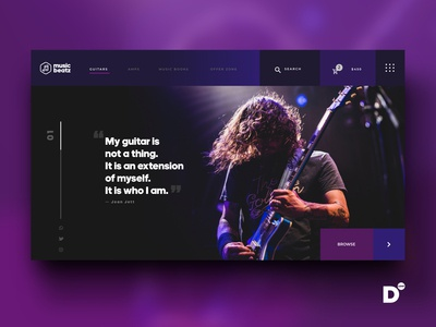 Website Design Concept- Music Beatz