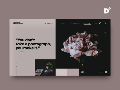 Photography website concept design
