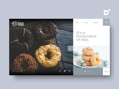 Website Design Concept- Donut Delight