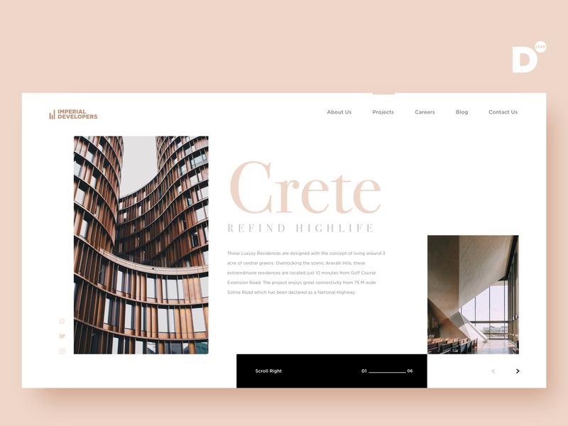 Website Design Concept- CRETE brandidentity app graphics typography uiux appdevelopment graphicdesign branding interaction design brand adobexd adobe uidesign identity designer ux ui graphicdesigner design web