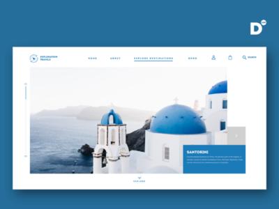 Website design concept for a tours & travel operator